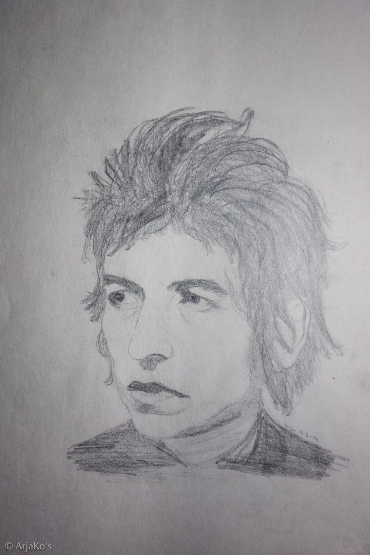 Bob Dylan, lyijykynäpiirros, 1973.