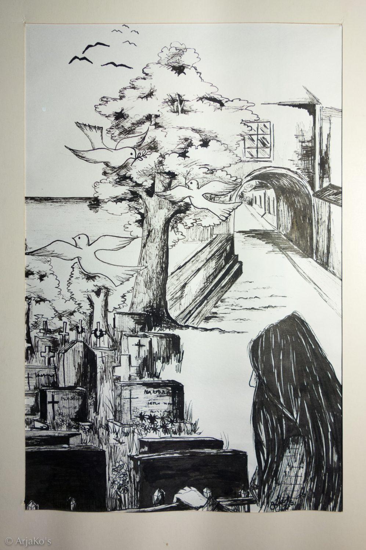 Tussipiirros, 42x30 cm, 1975.